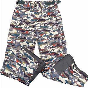 Arctix multi color ski pants boys large